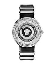 Ladies V-Icon Silvertone Watch