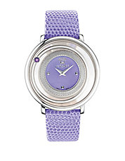 Ladies Venus Silvertone and Lilac Watch