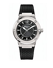 F-80 Stainless Steel Laser Cut Rubber Strap Watch