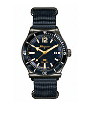 Mens 1898 Navy Stainless Steel and Nylon Strap Watch