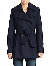 Petite Princess Seamed Trenchcoat