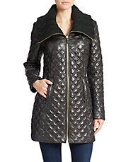 Diamond Quilted Zip Front Jacket