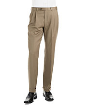 Classic Fit Ultraflex Pleated Wool Pants