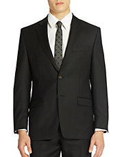 Classic Fit Two-Button Wool Suit Jacket