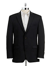 Classic Fit Pinstriped Wool Suit Jacket
