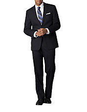 Modern-Fit Navy Solid Wool Suit