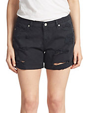 Tommy Distressed Boyfriend-Fit Shorts