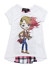 Girls 2-6x Glitter Girl Tee