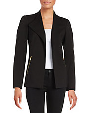 Zipper-Accented Ponte Jacket