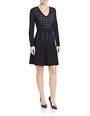 Perforated Knit Dress
