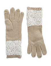 Boucle Mixed Knit Gloves