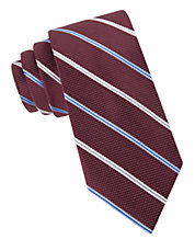 Silk Dotted Stripe Tie