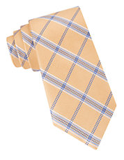 Silk Grid Plaid Tie