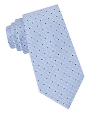 Silk & Linen Grid Check Tie