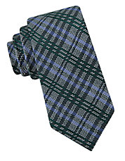 Plaid Silk-Blend Tie