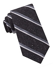 Speckled Striped Silk Tie