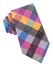Festive Checkered Wool Tie