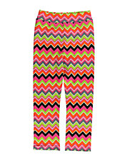 Girls 2-6x Neon Zigzag Leggings