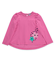 Girls 2-6x Long-Sleeve Floral Tunic