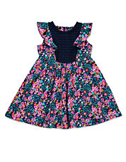 Girls 2-6x Floral Knit Dress
