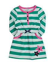 Girls 2-6x Striped French Terry Dress