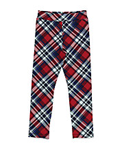 Girls 2-6x Plaid Stretch-Cotton Pants