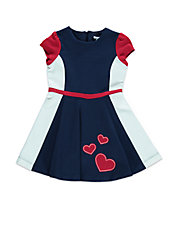 Girls 2-6x Colorblocked Heart Dress