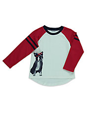 Girls 2-6x Puppy Raglan Tee