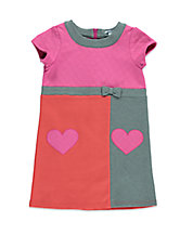 Girls 2-6x Colorblocked Heart Shift Dress