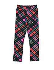 Girls 2-6x Plaid-Print Stretch Leggings