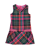 Girls 2-6x Plaid Jumper
