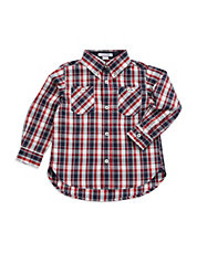 Boys 2-7 Plaid Sportshirt