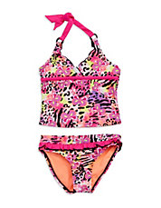 Girls 2-6x Butterfly Tankini Set