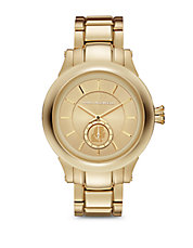 Unisex Goldtone Stainless Steel Bracelet Watch