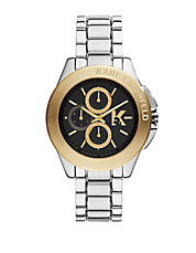 Unisex Two-Tone Stainless Steel Round Watch