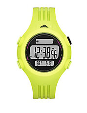 Mens Questra Matte Lime Digital Chronograph Watch