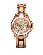 Unisex Karl 7 Klassic Rose Goldtone Chronograph Watch
