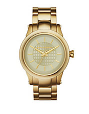 Unisex Slim Chain Goldtone Watch