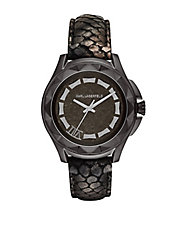 Ladies Karl 7 Watch with Python-Embossed Strap