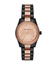 Ladies Two Tone Petite Stud Watch