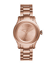 Unisex Rose Goldtone Chain Bracelet Watch