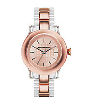 Karl Chain Rose Goldtone Watch