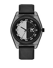 Graphik Black and Nylon Watch