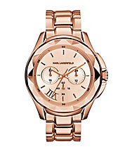 Karl 7 Rose Goldtone Chronograph Watch