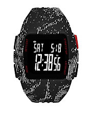 Graphic-Print Polyurthane LCD Sports Watch