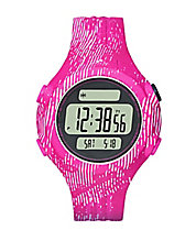 Unisex Graphic-Print Polyurthane LCD Sports Watch