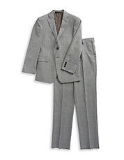 BOYS 8-20 Two-Piece Plaid Wool Suit