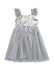 Girls 2-6x Sequined Tulle Dress