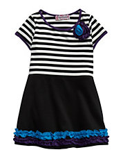 Girls 2-6x Striped Ruffle Dress