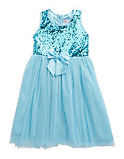 Girls 2-6x Sequined Bow Dress